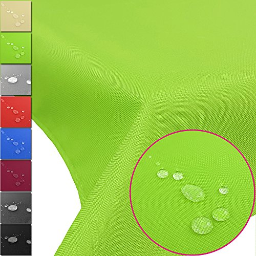 PROHEIM Outdoor Tischdecke Lounge mit Lotuseffekt Tischtuch wasserabweisend Tischwäsche Größen...