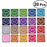 #9: TENDYCOCO Crafts Ink Pads 20 Pcs Fingerpaint Rainbow Finger Ink Pad Stamp Pad DIY for Kid's Rubber Stamp Scrapbooking Cards Making