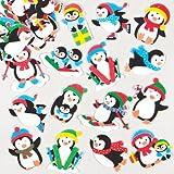 Pinguini Natalizi Adesivi in Gommapiuma per Bambini, Ideali per Decorare Bigliettini, Creazioni Fai Da Te e Collage (confezione da 120)