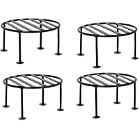 ORCHID ENGINEERS Rust Free Plant Stand, Flower Pot Stand, Gamla Stand (Pack of 4), Black, 1