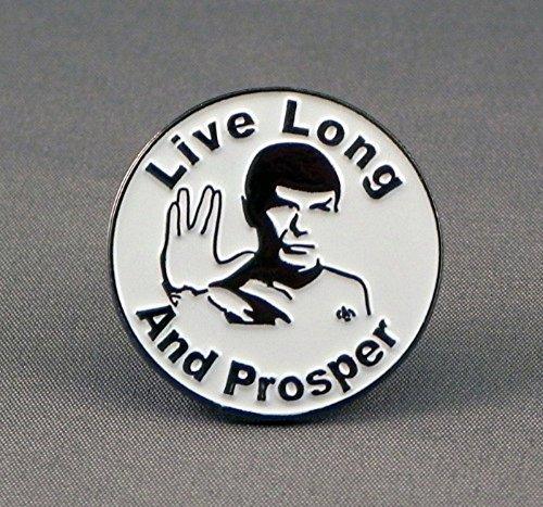 Metal Enamel Pin Badge Star Trek Enterprise Vulcan Spock Salute Live Long And Prosper by Mainly Metal