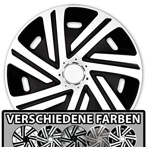 (Größe und Farbe wählbar) Radzierblenden 16 Zoll – CYRKON (Schwarz-Weiß) passend für fast alle Fahrzeugtypen (universell)!