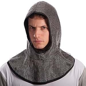 Heaume de chevalier en fausse cotte de maille médiéval moyen age [5729]