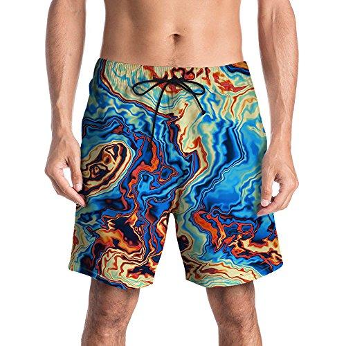 più recente 847b4 63304 Styledresser Uomo Costume Da Bagno Pantaloni Corti Uomo Sportivi Estate  Shorts Uomo Sportivi Cotone Estivo Bermuda 3D Stampati Pantaloncini  Calzoncini ...