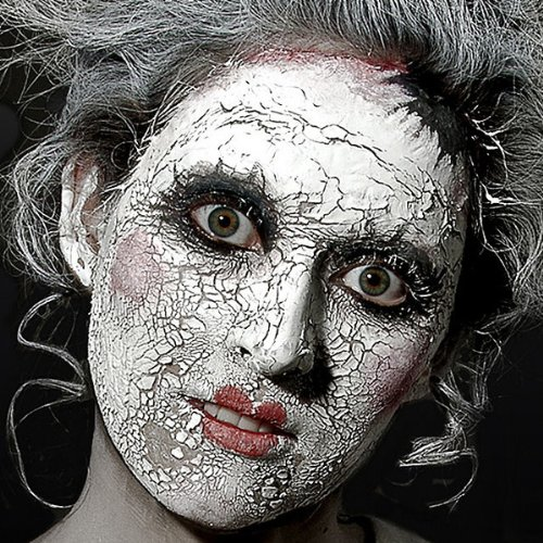Scary Skin weiß - Spezialeffekt Halloween Schminke rissige Haut - 56,75 (Doll Masken)
