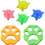 Yisscen Depiladora de mascotas,Depiladora de mascotas de 2 piezas Bolas de lavandería de 4 piezas, Filtros de pelusa de reuti