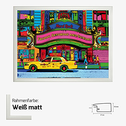 kunstdruck-potron-hard-rock-cafe-broadway-60-x-80-cm-mit-mdf-bilderrahmen-acrylglas-reflexfrei-viele