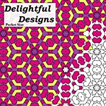 Pocket Size Delightful Designs: Relaxing On The Go Mini Coloring Book For Adults (Mini Coloring Books)