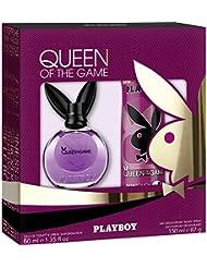 Coffret Cadeau PLAYBOY pour Femme « Queen of the Game » Eau de Toilette 60 ml et Parfum Déodorant SkinTouch 150 ml