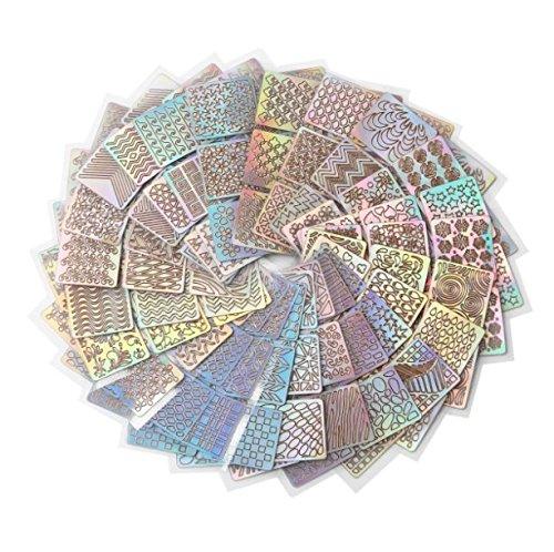 288x Milopon Nagel Sticker Nail Art Aufkleber Nagelaufkleber 3D-Design selbstklebende Maniküre Schablone DIY Nagel aufkleber Nailart Tips-Dekorationen , 24 Blatt