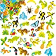 Rainforest Foam Stickers for Children to Decorate and Embellish Summer Arts and Crafts (Pack of 100)