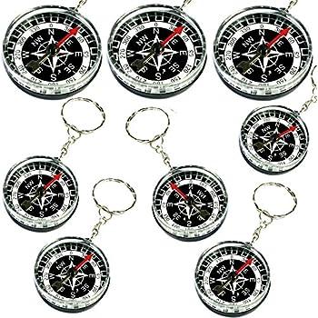 Amosfun 12pcs Boussole Pendentif d/écorations Portables Anniversaire Cadeaux de f/ête de Mariage faveurs