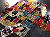 ARTWORK PATCHWORK Patchwork Vintage Teppich bunt in multicolor