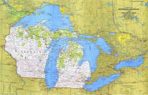 Reproduktion eines Poster Präsentation-USA-Wisconsin, Michigan, großen Seen 1(1973)-61x 81,3cm Poster Prints Online kaufen
