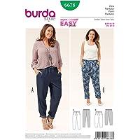 Burda B6678 Patron de Couture Pantalon, Papier, Blanc, 19 x 13 x 1 cm