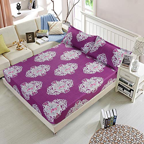 huyiming Verwendet für Normallack Simmons Schutzhülle Staubschutzhülle Bettbezug Matratzenbezug Einzelstück 1,5 Bett Set 1,8 Bett rutschfeste Bettdecke Yalan - lila 200cmx200cm
