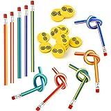 FEPITO 62 Pz bambini party Bag Filler Set, matite flessibile molle Bendy e gomme magia Bend Giocattoli Scuola Fun stazionario