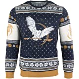 Numskull Unisex Official Harry Potter Hedwig Knitted Christmas Jumper for Men or Women - Ugly Novelty Sweater Gift