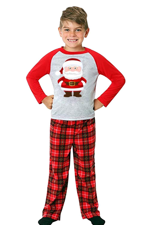 URMOSTIN Pijamas de Navidad Dos Piezas Pijamas Familiares, Conjunto de Ropa de Dormir de Algodón Merry Christmas Manga… 2