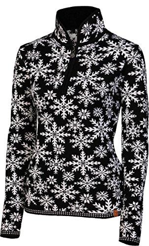NEVE Damen Ingrid Zip Neck Sweater schwarz