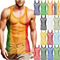 Mens String Mesh Vest Fishnet Cotton Gym Muscle Training Tank Rasta Tops Shirts S M L Xl