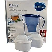 BRITA, Carafe Filtrante et 2 Cartouches Marella 2,4 litres Bleu