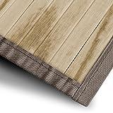 Bambusläufer Magenta (Natur) | für Bad und Wohnzimmer | natürlich wohnen mit 100% echtem Bambus | Bambusmatte in vielen Größen (70x200 cm)