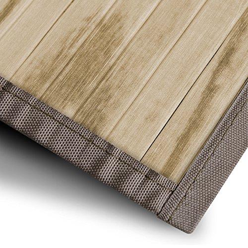 casa pura Bambusteppich Magenta (Natur) | für Bad und Wohnzimmer | natürlich wohnen Bambus | Bambusmatte in vielen Größen (160x230 cm) Bambus Natur