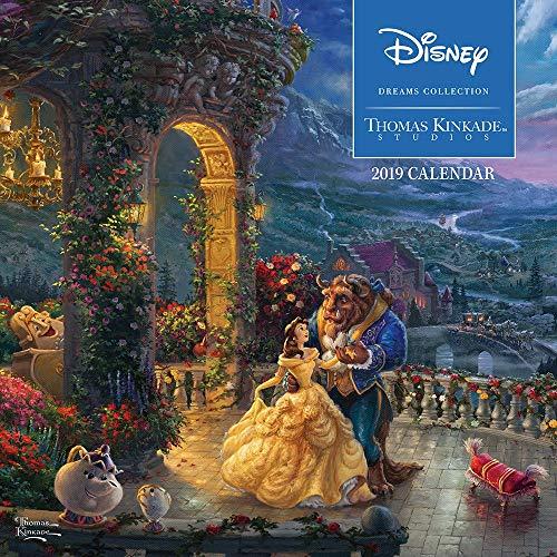 Disney Dreams Thomas Kinkade 2019 Kalender, Offizielles Design, 30 x 30 cm, versiegelt, inkl