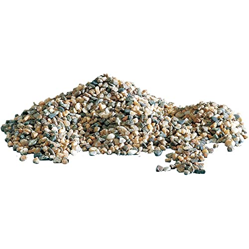 AMTRA POLICROMO, ghiaia naturale per acquari, terreno decorativo, sabbia e ghiaia bianca, grani 3-4 mm, 5 KG