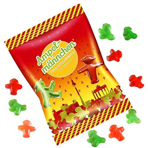 Fruchtgummis Ampelmännchen 200g | GRATIS DDR Geschenkkarte | Ossi Produkte | Ideal für jedes DDR Geschenkset | DDR Traditionsprodukt und Ossi Kultprodukt | DDR Produkte