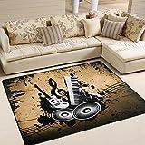ingbags Super Weich Modern Vintage Musik Musikinstrumente, ein Wohnzimmer Teppiche Teppich Schlafzimmer Teppich für Kinder Play massiv Home Decorator Boden Teppich und Teppiche 160x 121,9cm, multi, 63 x 48 Inch