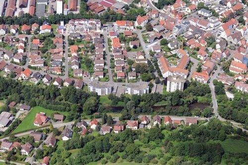 MF Matthias Friedel - Luftbildfotografie Luftbild von Marbacher Weg in Steinheim an der Murr (Ludwigsburg), aufgenommen am 05.08.09 um 15:29 Uhr, Bildnummer: 5417-08, Auflösung: 6048x4032px = 24MP - Fotoabzug 50x75cm