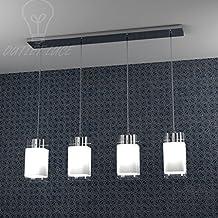 Lámpara Calata Barra de cristal satinado de diseño cuadrado 10x 10Modelo 1104/S4mesa hotel bar cocina comedor dormitorio baño Camera