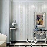 Einfache Streifen 3D 3D - Skulptur Blümchen Aus Geweben Tapeten Schlafzimmer Wohnzimmer Restaurant Gang Hintergrund - Tapete Wathet Wallpaper