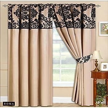 vorhang gardinen set marianna fertiggardinen in 2 farben dekogardinen wei creme beige. Black Bedroom Furniture Sets. Home Design Ideas