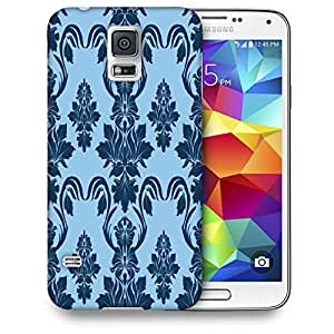 Snoogg Blue Abstract Pattern Printed Protective Phone Back Case Cover For Samsung S5 / S IIIII