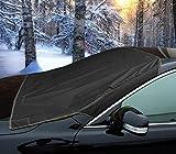2270 Telo copriparabrezza auto anti neve, ghiaccio e sole con magneti Nero. MEDIA WAVE store