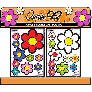 Aurum92 Funky Car Stickers - Large Flowers