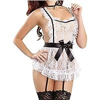 Costume Sexy Soubrette Lingerie Femme Erotique Robe Tenue Deguisement De Menage Coquine Cosplay Servante Dentelle…