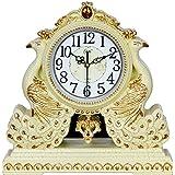 Swing Reloj Reloj despertador retro reloj de cuarzo de silencio creativo adornos,B