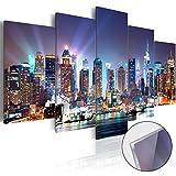 murando – Acrylglasbild New York 100x50 cm - 5 Teilig - Glasbilder - Wandbilder XXL - Wandbild - Bilder d-B-0056-k-m