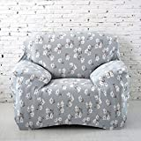 Sofa für 1-Sitzer-Sofa Schonbezug Stretch Elastic Pet Dog Polyester-Couch Displayschutzfolie-Soft Couch Cover Floral Print Bettüberwurf, blume, 1 seater