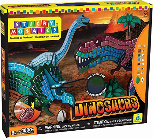 The Orb Factory Sticky Mosaics Dinosaurs Craft Kit