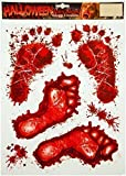 Bloody Footprints & Blood Splats Halloween Clings Decoration