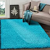 A2Z RUG SOFT SUPER THICK SHAGGY RUGS Teal 120X170 CM -3'9''X5'5''