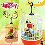 LuckyBB Magical Voice Activate Chirping Sound Control Beautiful Singing Bird Funny Toy (Multicolor)