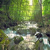 Zaun Sichtschutzstreifen für Doppelstabmatten inkl. Klemmschienen (Wasserfall)