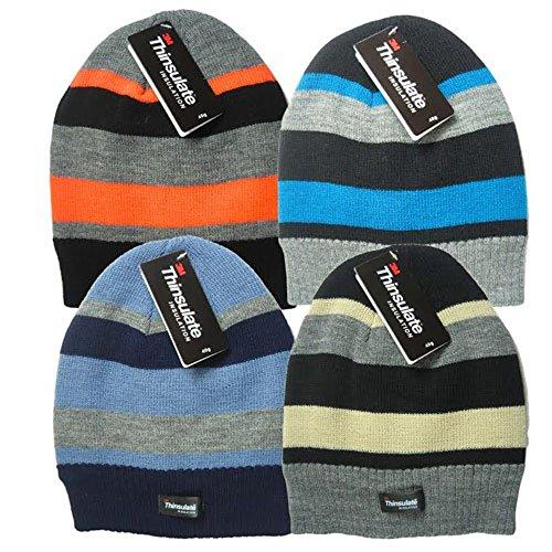 Jungen Kinder One Size Thinsulate gestreift Hat Thinsulate-slip