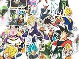 shopiseller Dragon Ball Stickers Bomb, (Lot de 95 Pièces), Autocollant, Stickers Bomb z pour pc, Vélo, Voiture, Vélo, Valise, Murs et Meubles.(95pcs)